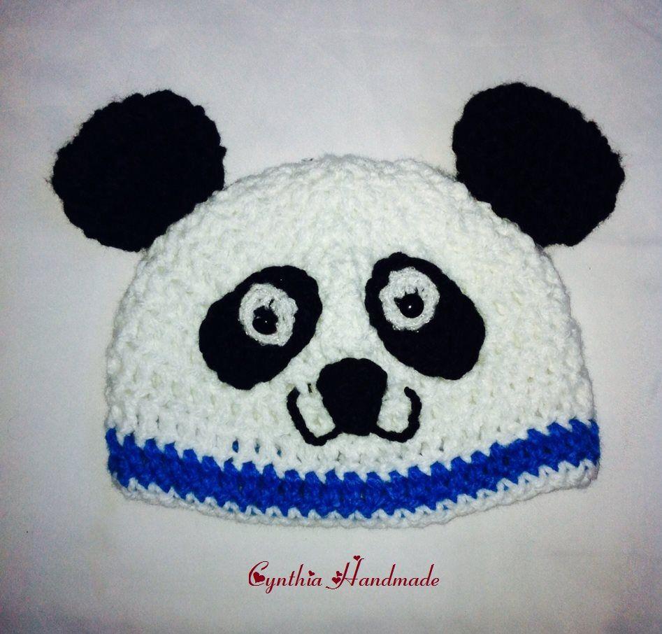 Gorro Oso panda   Hats crochet / Gorros - Sombreritos   Pinterest ...