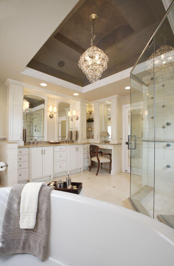 Sweet Peas Design Master Bathroom Love The Chandeleir In Here