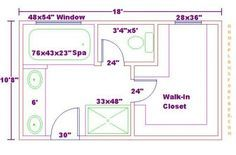 Master Bathroom Closet Floor Plans bathroom layout 9'x 12' - google search | our new home | pinterest