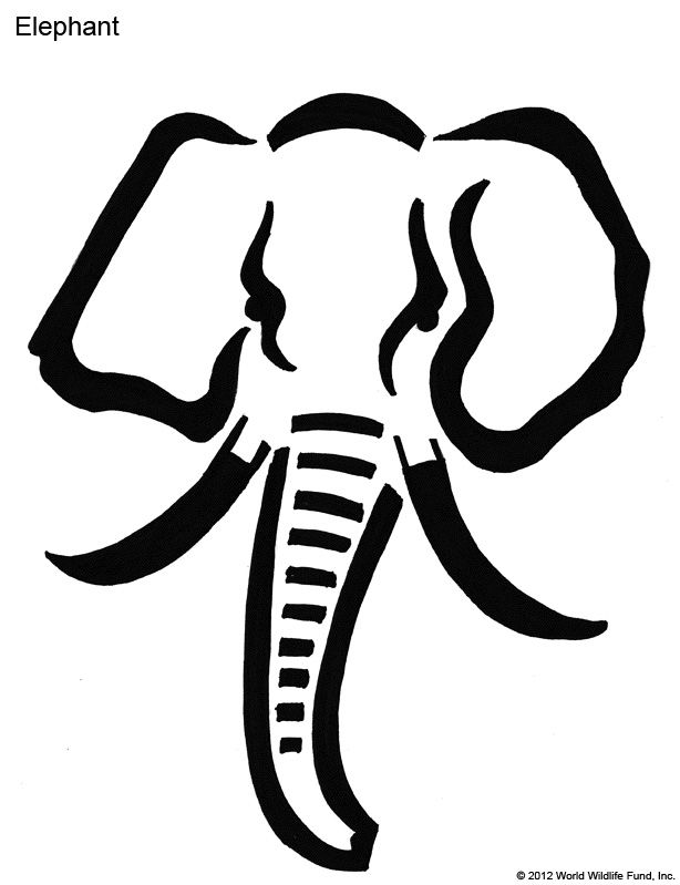 Pumpkin carving patterns from wwf free stencil downloads for How to carve an elephant on a pumpkin