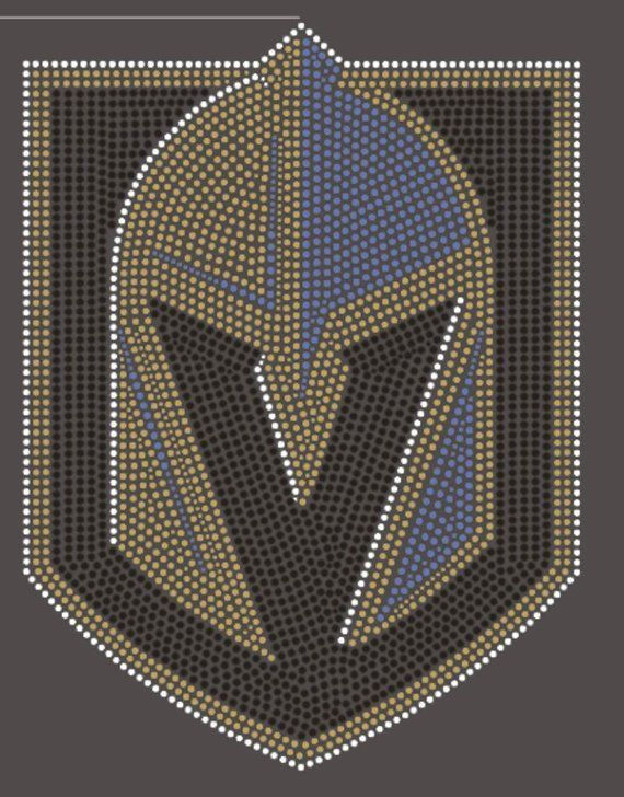 Las Vegas Golden Knights Hockey Rhinestones Design on fitted shirt all sizes SHIPS EVERY MONDAY