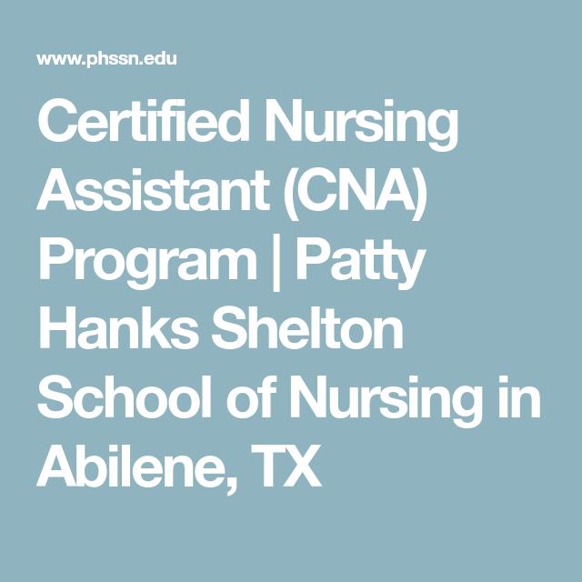 Certified Nursing Assistant Cna Program Patty Hanks Shelton