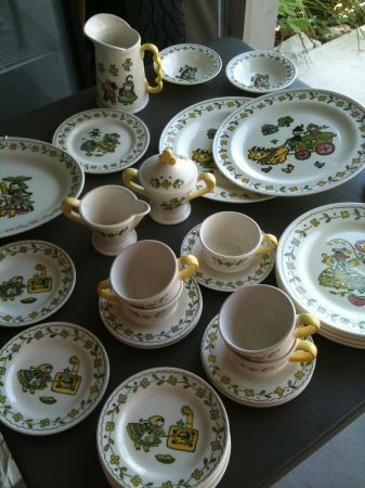 Poppytrail by Metlox  Happy Time  dishes : craigslist dinnerware - pezcame.com