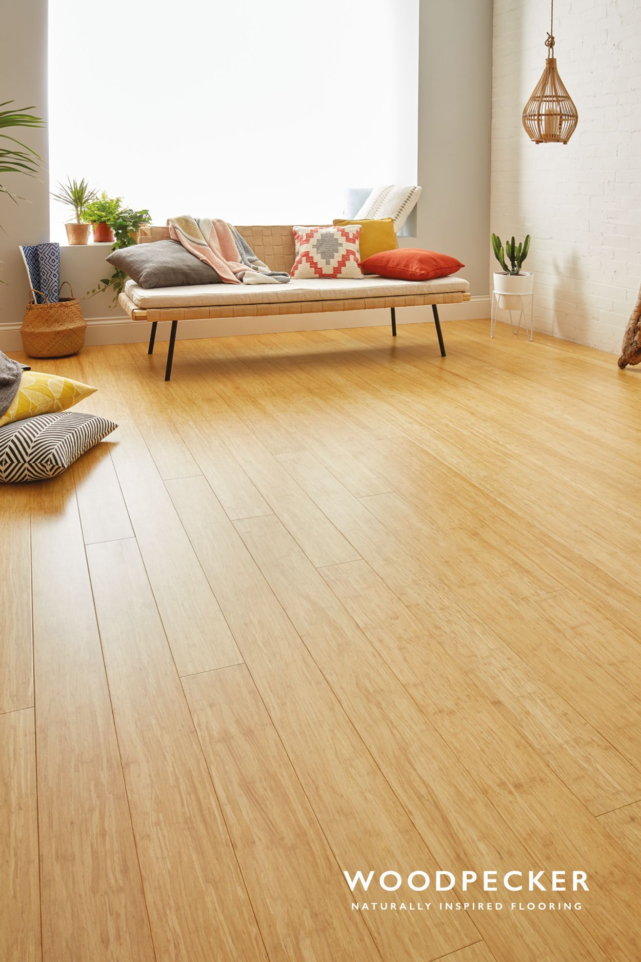 Love the light and spacious feel of this natural bamboo floor get a
