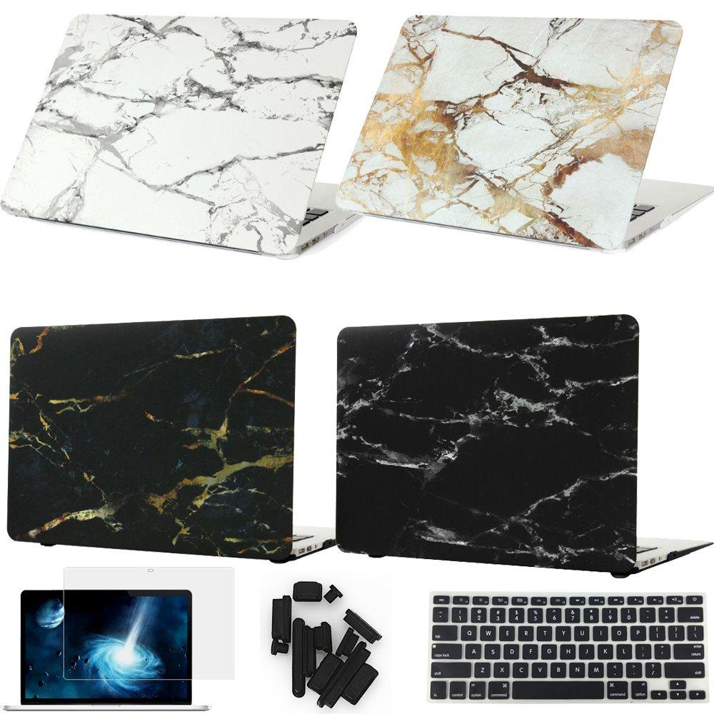 Marmeren textuur cover hard case voor apple macbook air pro retina 11 12 13 15 Voor Mac boek 13.3 inch met Touch Bar Laptop tas