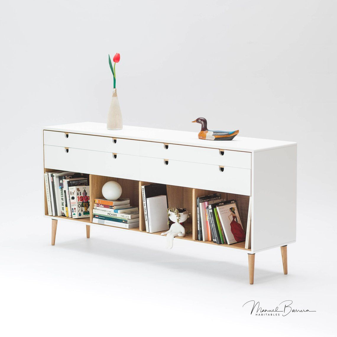 Best Commode Dresser Credenza In Solid Oak Wood Board Style 400 x 300