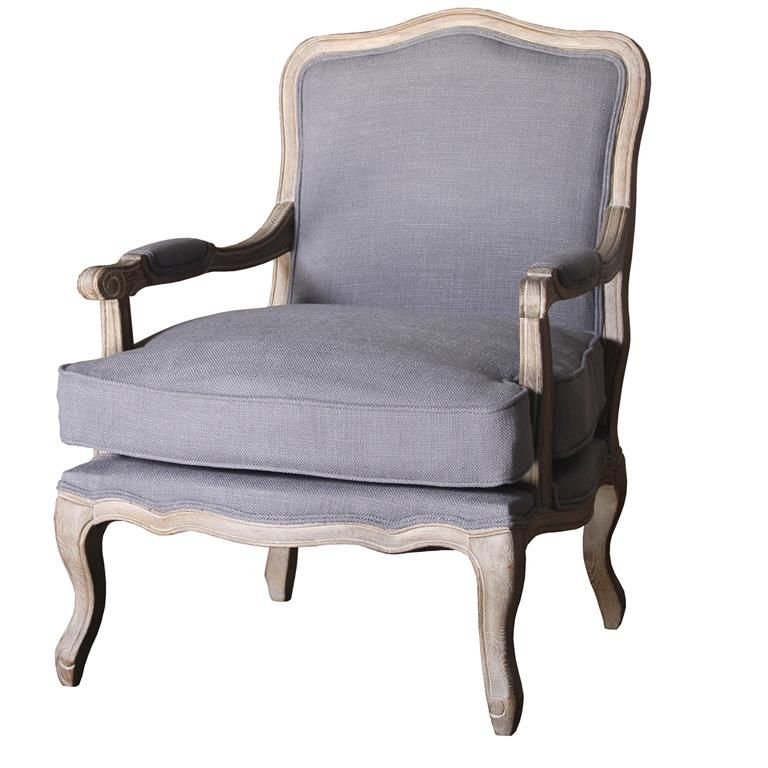 Louis Grey Armchair - NEW!!!