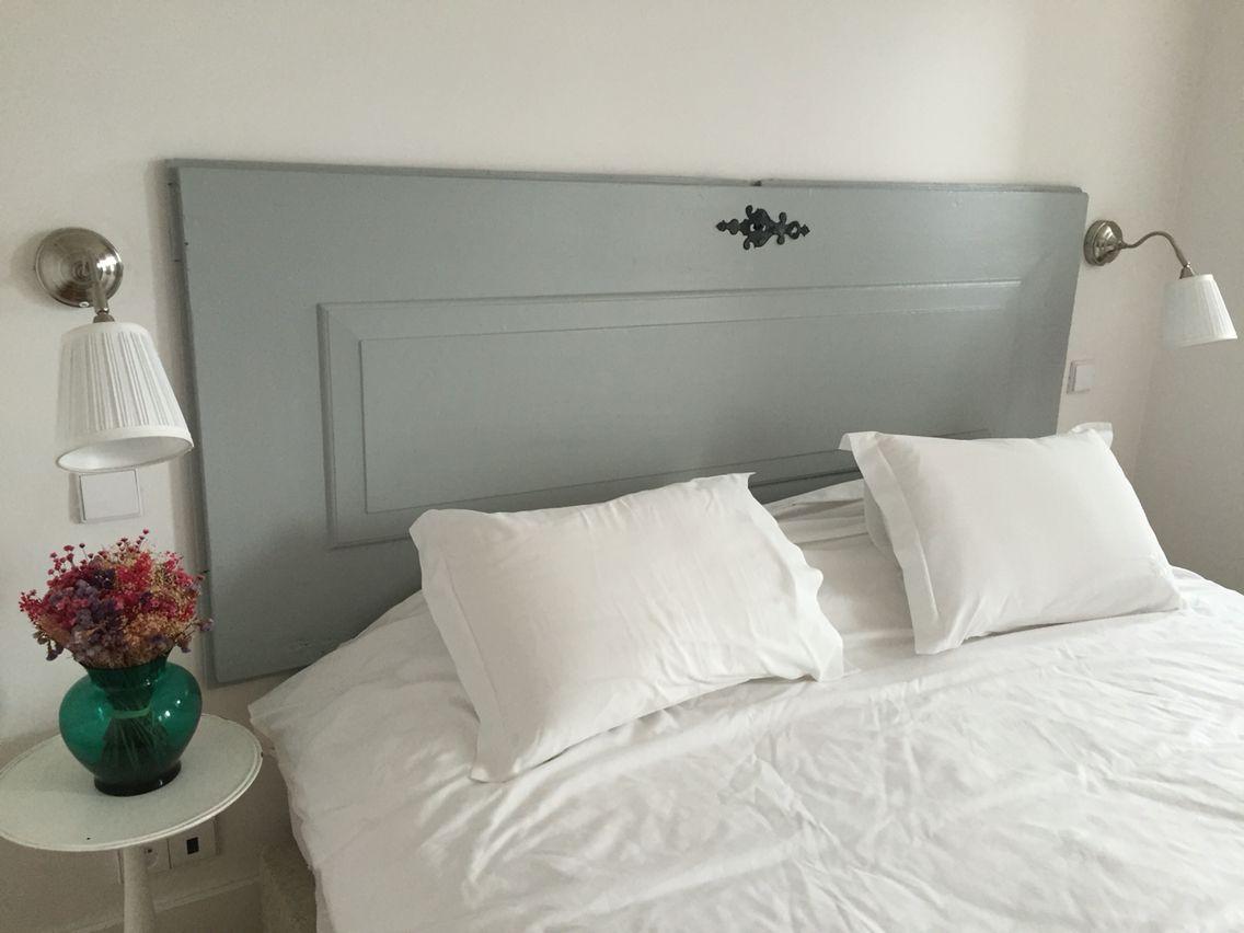Porte En Tete De Lit l'ancienne porte en tête de lit | deco chambre a coucher