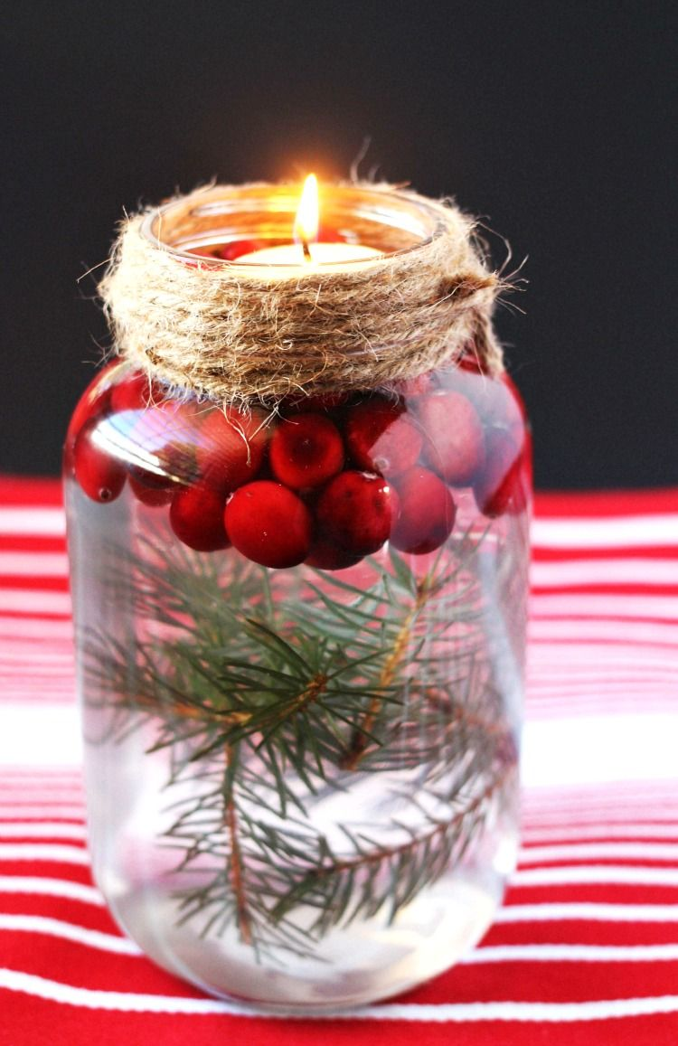 Diy holiday mason jar floating candle floating candles christmas decor and jar for 7 candle christmas decoration