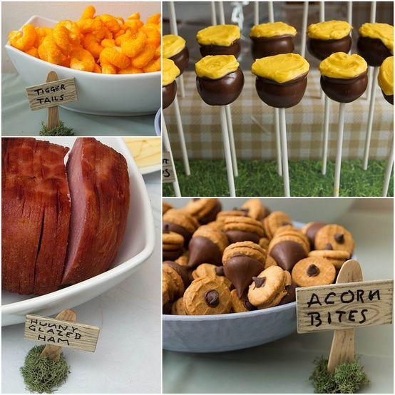 Food Ideas Winnie The Pooh Birthday Kids Birthday Party
