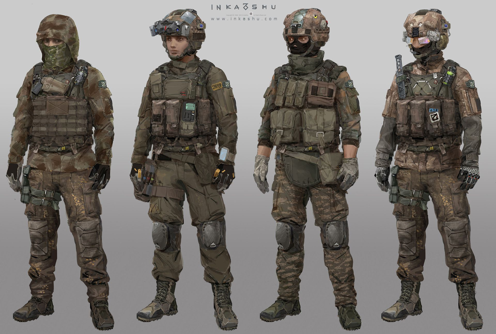 ArtStation - FPS Game Characters, Inka Shu
