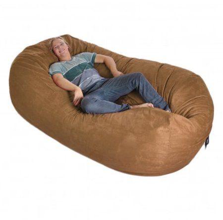 Fine Amazon Com 8 Huge Earth Brown Slacker Sack Foam Bean Bag Machost Co Dining Chair Design Ideas Machostcouk