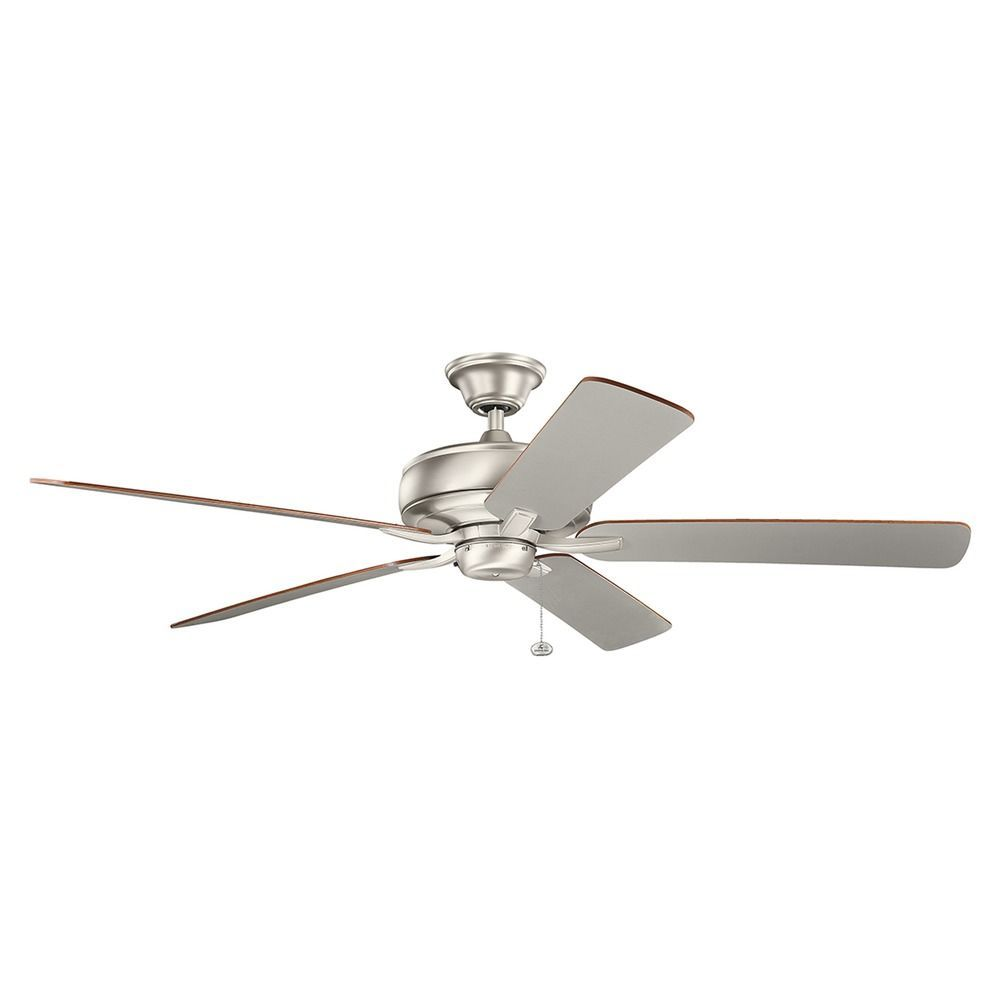 Kichler Lighting Terra Brushed Nickel Ceiling Fan Without Light At Destination Lighting Ceiling Fans Without Lights Brushed Nickel Ceiling Fan Ceiling Fan