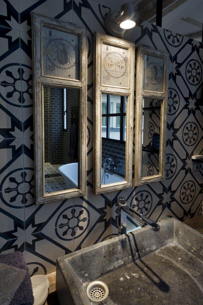 36 idées déco avec des motifs carreaux de ciment | Tuile, Étages ...