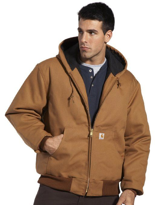 dd0a895da V POPULAR: Carhartt Men's Duck Active Jacket- Quilted Flannel Lined J140:  Clothing
