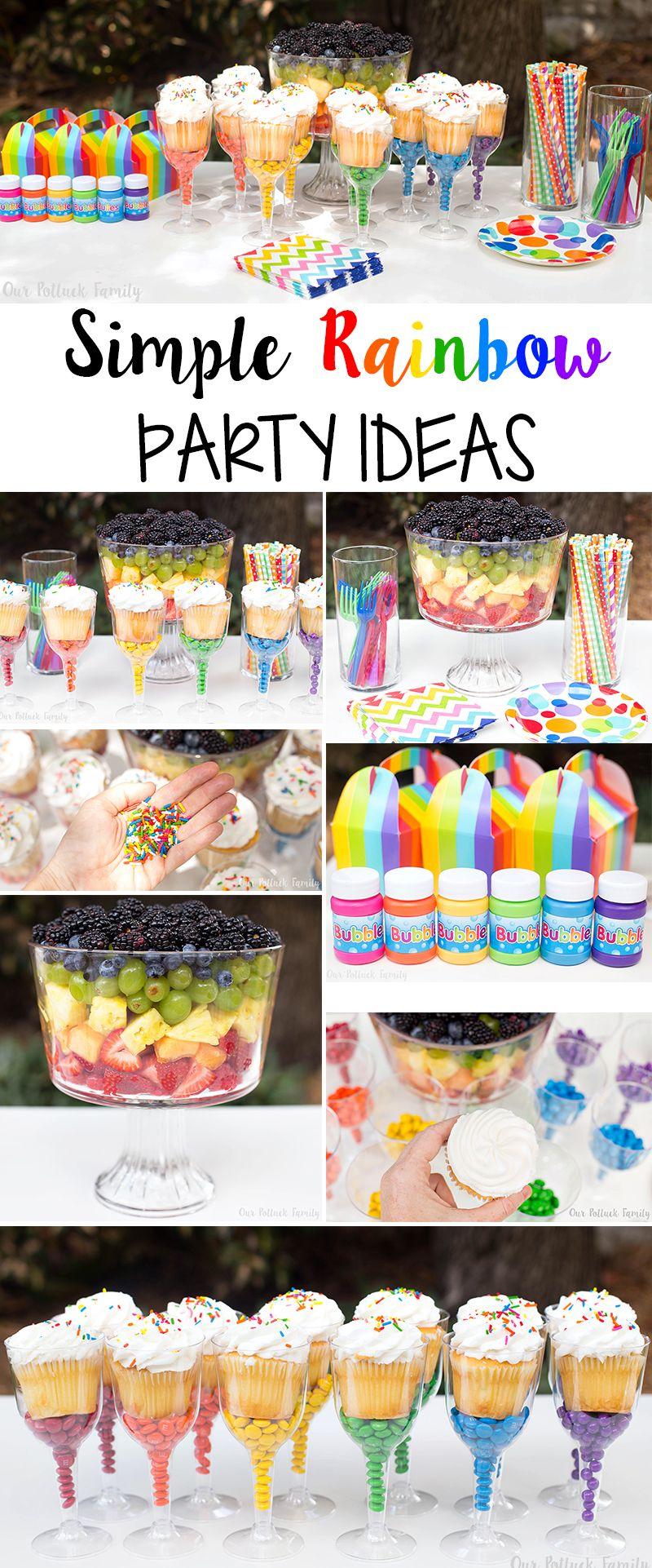 Simple Rainbow Party Ideas – Our Potluck Family