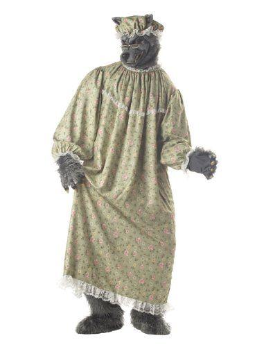 Big Bad Granny Wolf Animal Fairytale Halloween Costume