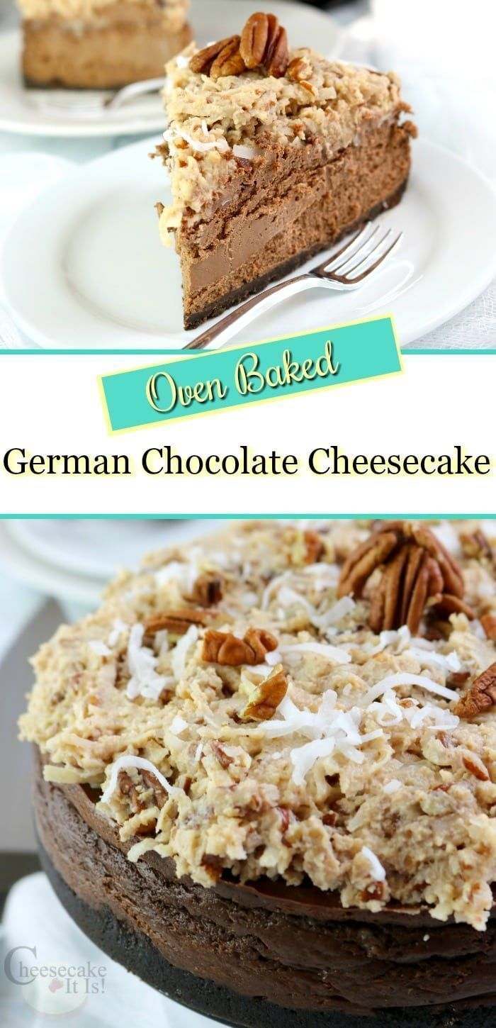 Nothing like the taste of a freshly made german chocolate cake with REAL icing! Well, that is unless it is a german chocolate cheesecake, then that one takes the cake! #cheesecake #chocolatecheesecake #germanchocolatecheesecake #ovenbaked #germanchocolatecheesecake Nothing like the taste of a freshly made german chocolate cake with REAL icing! Well, that is unless it is a german chocolate cheesecake, then that one takes the cake! #cheesecake #chocolatecheesecake #germanchocolatecheesecake #ovenb #germanchocolatecheesecake