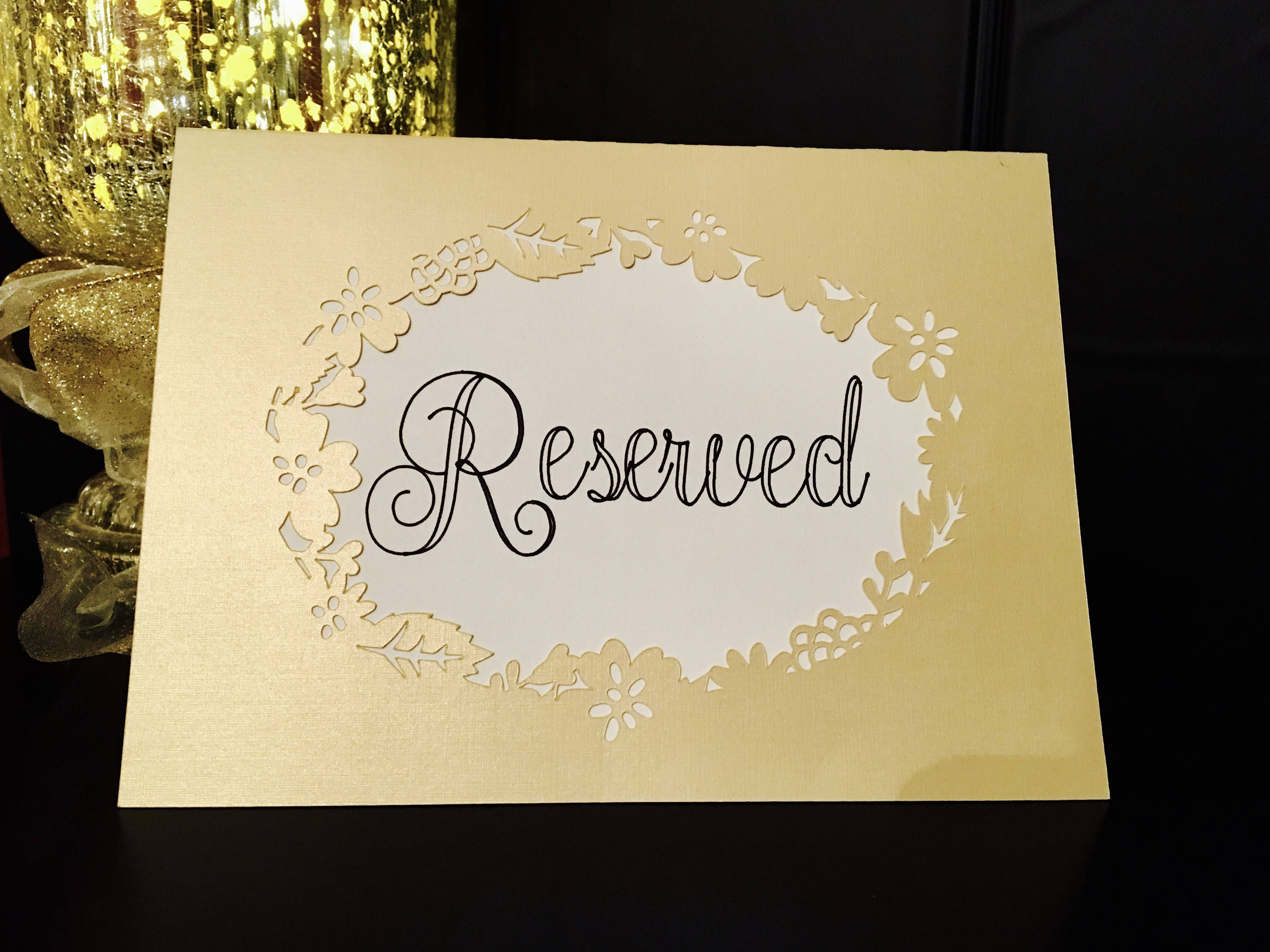 detailed pictures unique design newest Set of 4 Elegant Reserved Table Signs • Wedding Reception ...