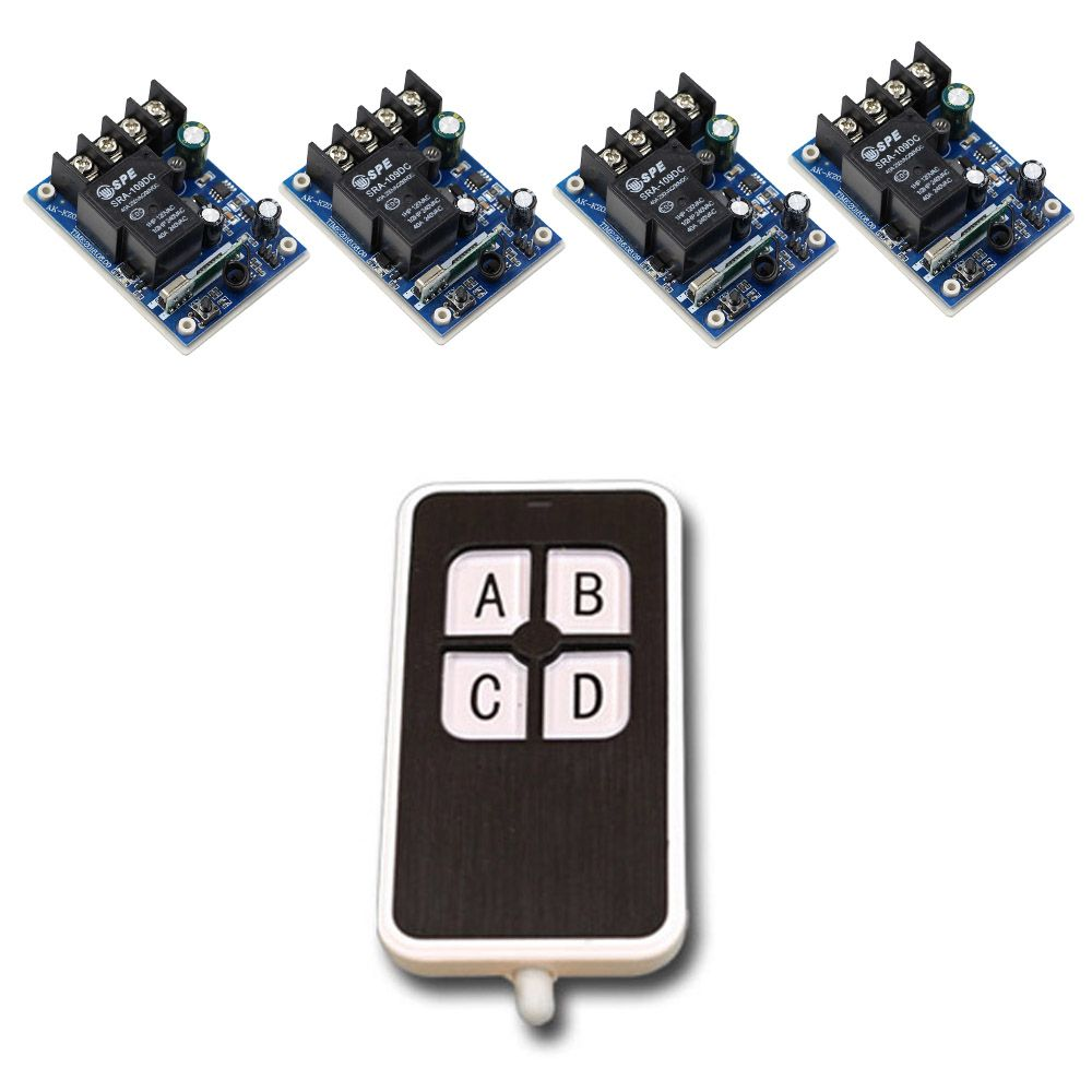 New Item Dc 12v 24v 36v 48v 30a Relay 1ch Rf Wireless Remote Control Circuit Board Garage Door 315 433mhz Receivers