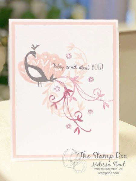 simple beautiful peacock  stampin up cards cards
