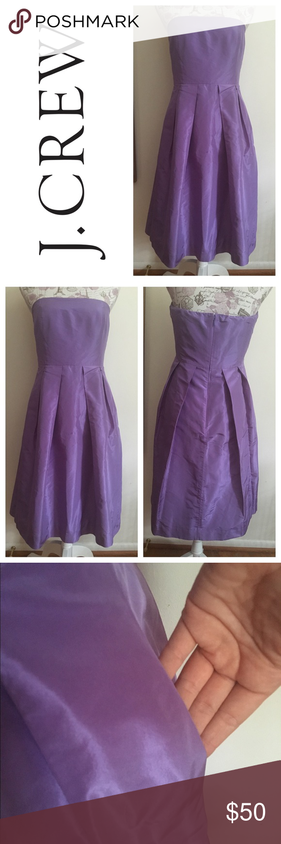 J crew purple semiformal dress i wore this for a wedding it would