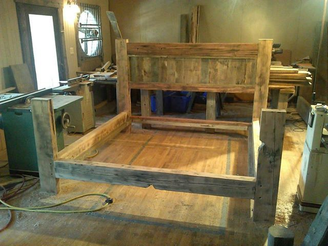 Reclaimed Barn Wood Bed Frame By Boonebarn On Etsy 950 00
