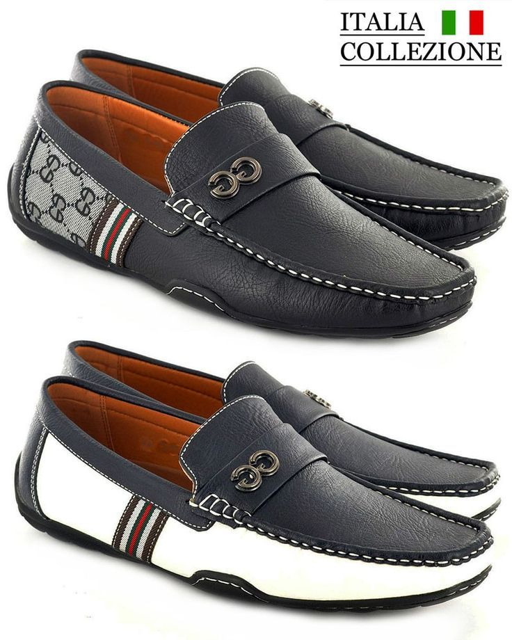 f1586c10441 Mens Designer Loafers Leather Look Italian Driving Shoes Slip On Gents  Shoes £17.95