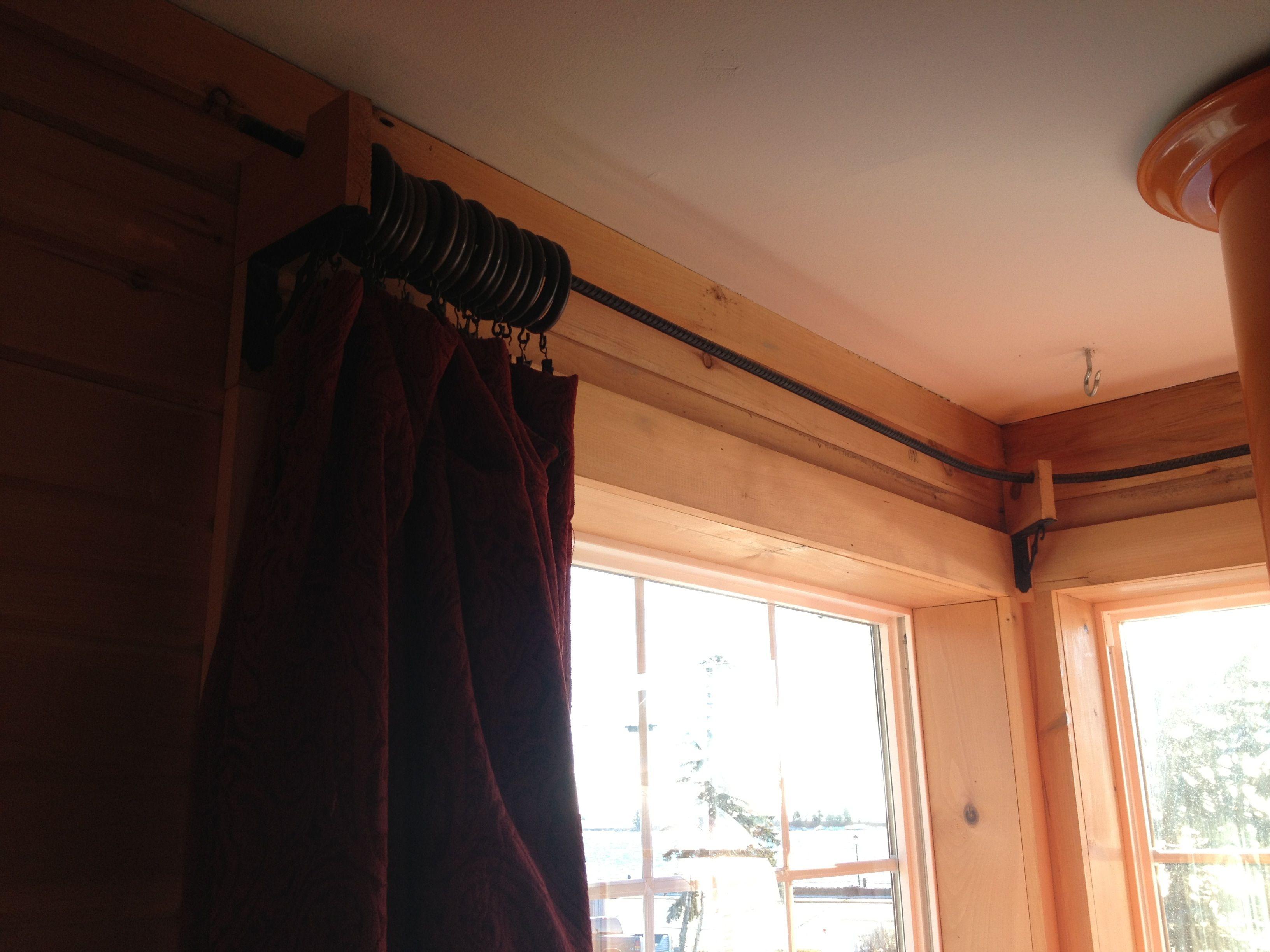 Bent Rebar As Curtain Rod Curtains Home Curtain Rods