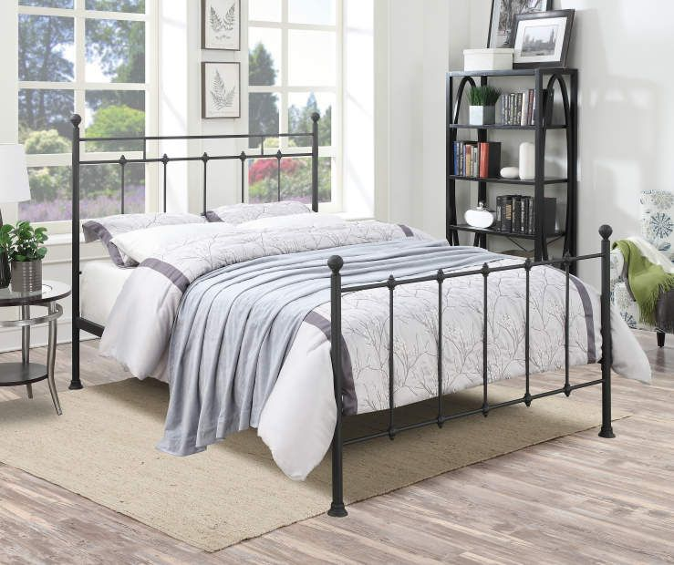 Black Metal Post Queen Bed Black Queen Bed Frame