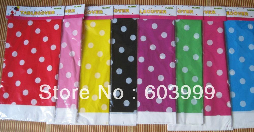 400 X Polkadot Plastic Tablecover Table Cloth Rectangle Polka Dots Party  Tableware Decorations,Partyware Boutique
