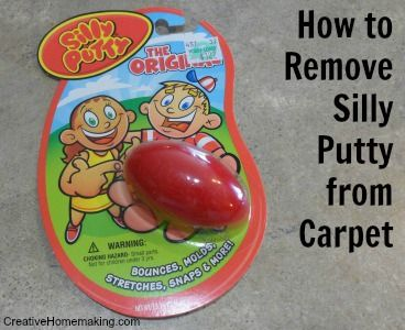Removing Silly Putty Or Slime From Carpet Silly Putty Dry Carpet Cleaning How To Clean Carpet