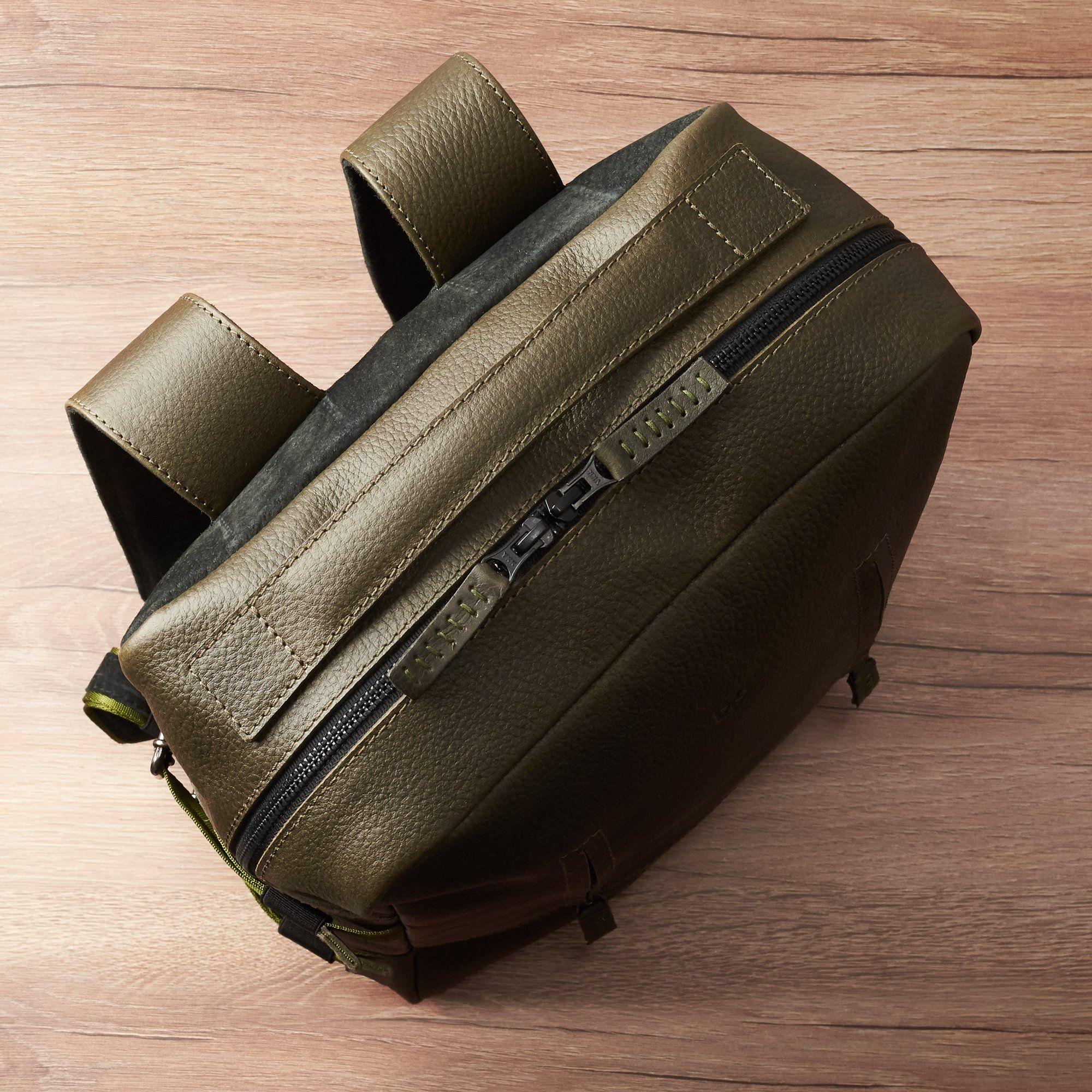 a02e7b82a252 Handmade Tamarao Backpack Rucksack · Green by Capra Leather ...