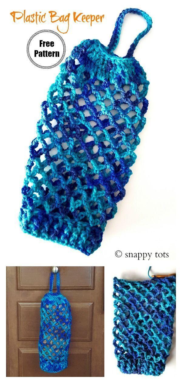 Plastic Bag Keeper Mesh Bag Free Crochet Pattern – DIY, Crochet, and Crafts