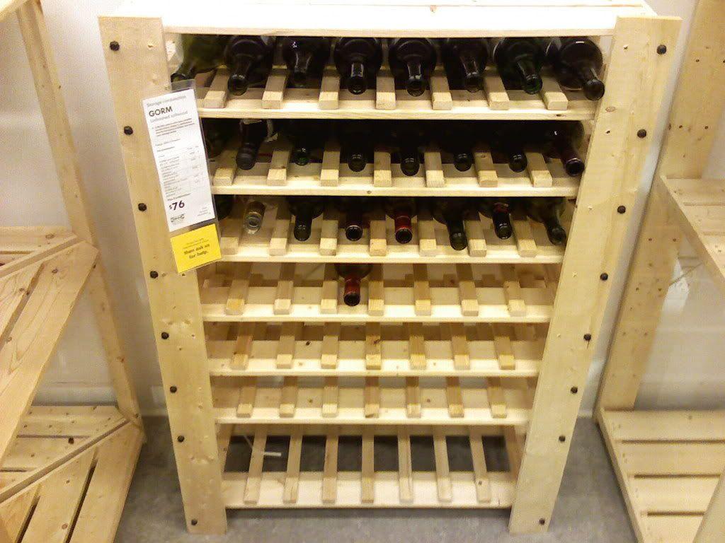 wine rack ikea rangement vin