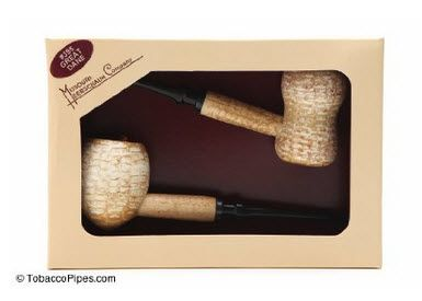 Missouri Meerschaum Great Dane Egg Corncob Tobacco Pipe Gift Set: Smoking Pipe Gifts
