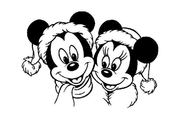 Coloriage Mickey à imprimer (Mickey noël, Mickey bébé, ...) en 2020 | Coloriage mickey à ...