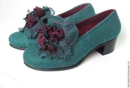 Обувь ручной работы. Ярмарка Мастеров - ручная работа. Купить Туфли валяные