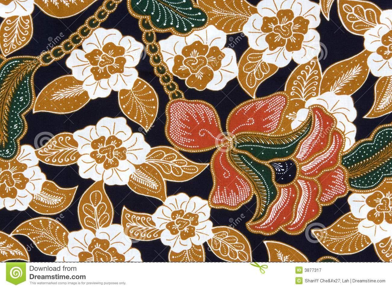 Indonesian Abstrak Batik: Indonesian Batik Sarong Stock Photography
