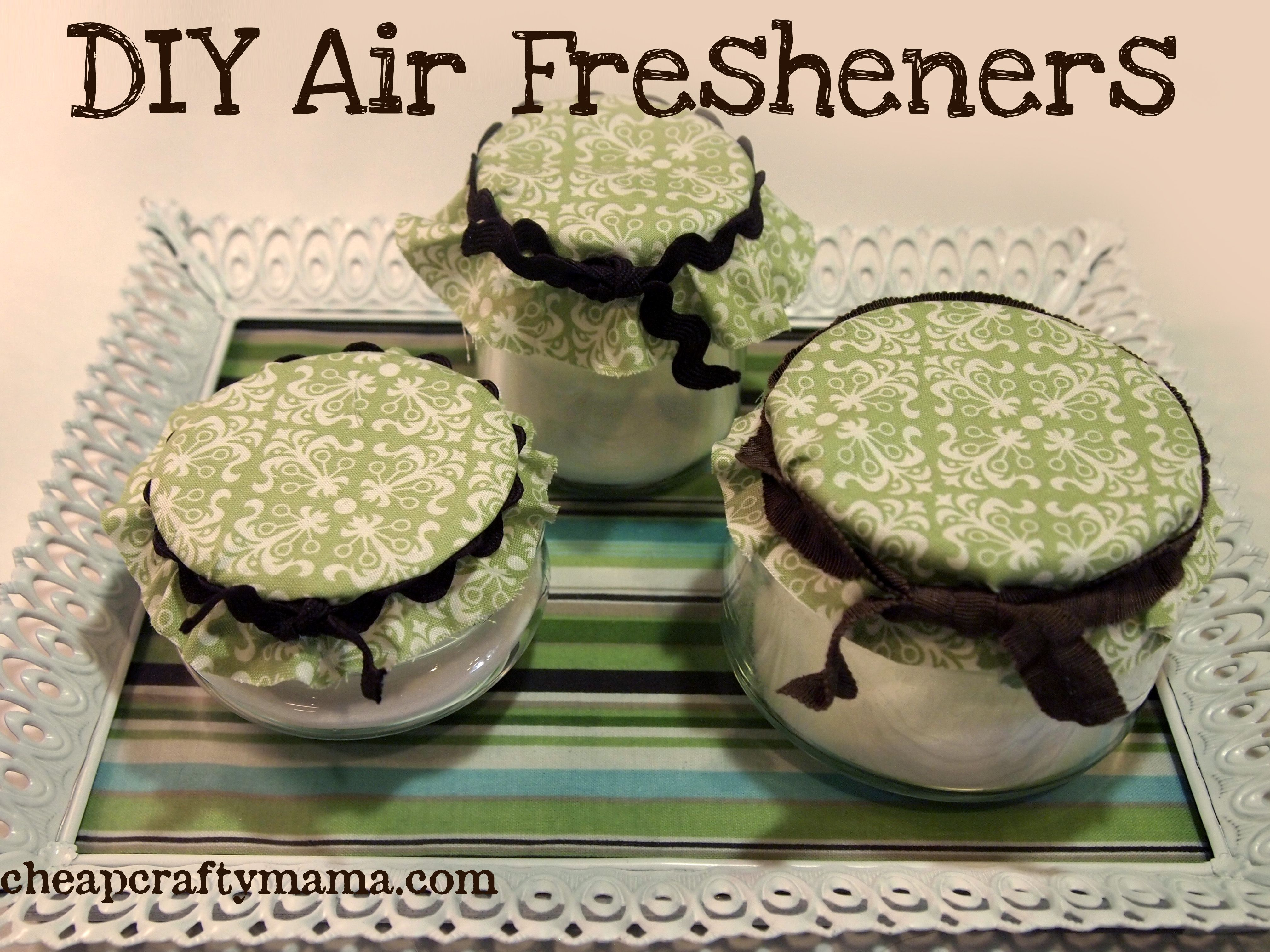 super easy diy air fresheners from cheap crafty mama for the home basteln bastelarbeiten. Black Bedroom Furniture Sets. Home Design Ideas