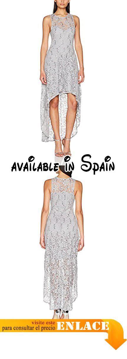B077GB4JXT : Quiz Sequin Lace Diphem Vestido de Fiesta para Mujer Gris 44.