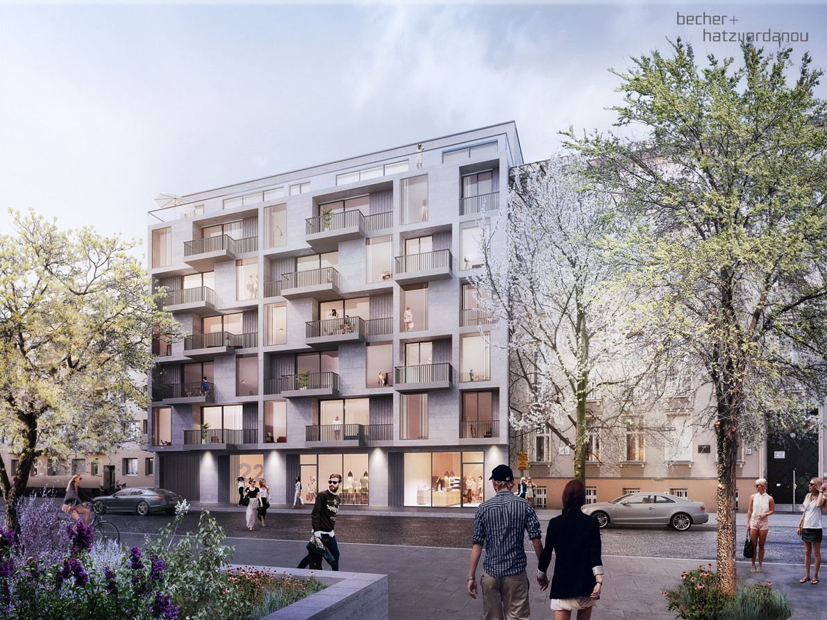 einmal quer durch den block pl ne f r wohnanlage in berlin arch visualization wohnungsbau. Black Bedroom Furniture Sets. Home Design Ideas