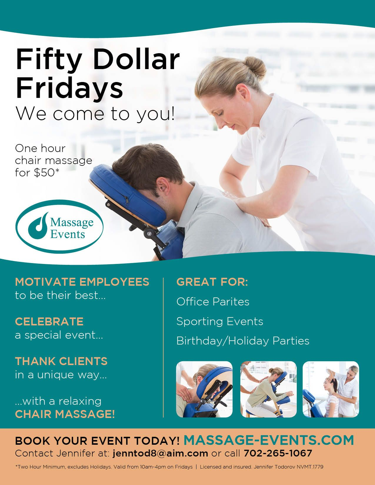 Full Hour Of Chair Massage On Fridays For 50 Massage Marketing