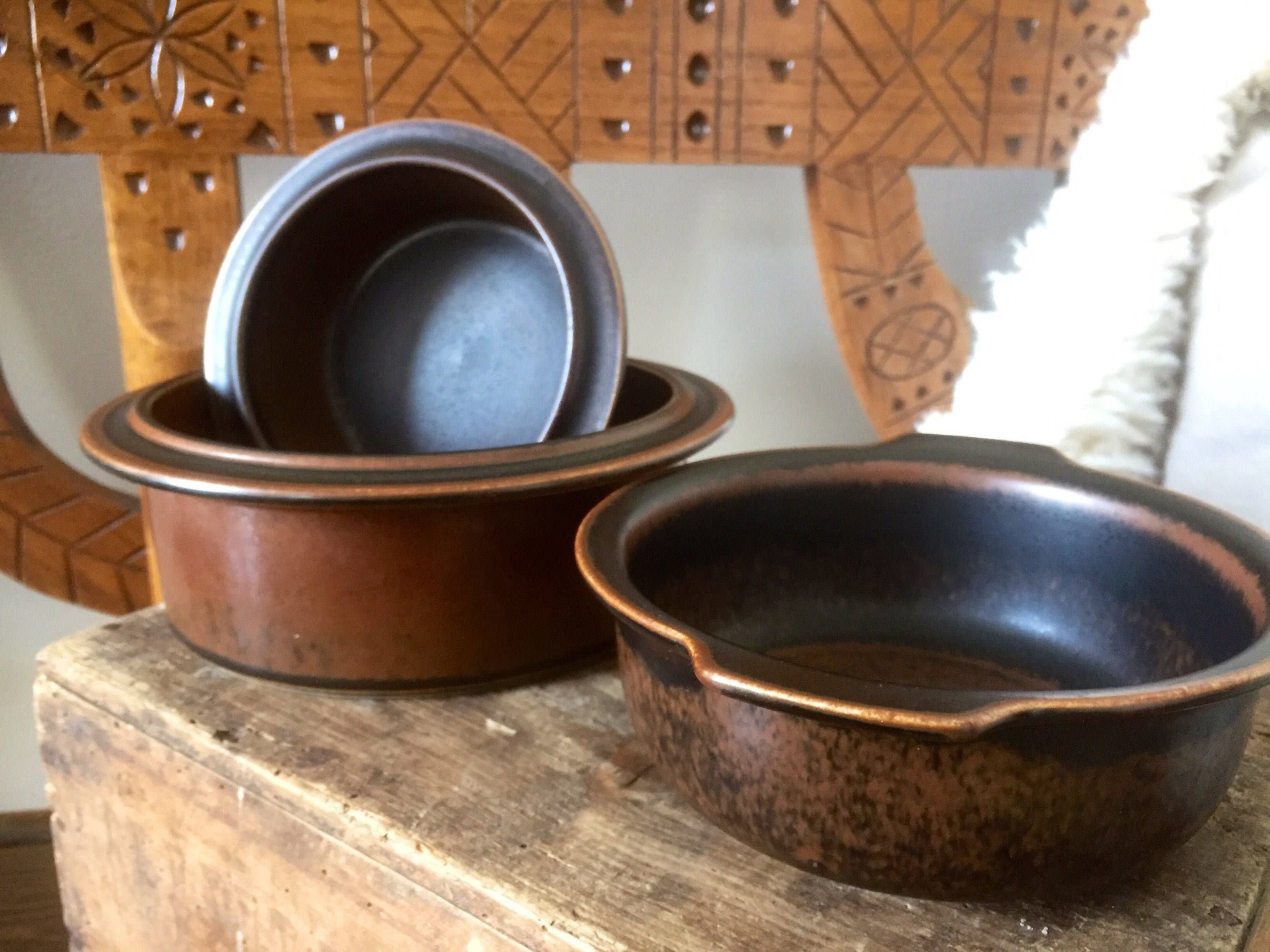 Set of 3 Arabia/ruska/serving/baking dish/ casserole/Ruska/ & Set of 3 Arabia/ruska/serving/baking dish/ casserole/Ruska/series ...