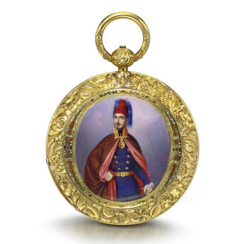 Swiss A Gold And Enamel Convertible Pocket Chronometer With Portrait Of Sultan Abdulmecid I Made For The Turkish Market Antique Watches Auction Watches Unique