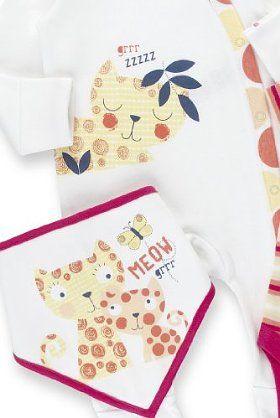 3 Piece Pure Cotton Tiger Starter Set-Marks & Spencer
