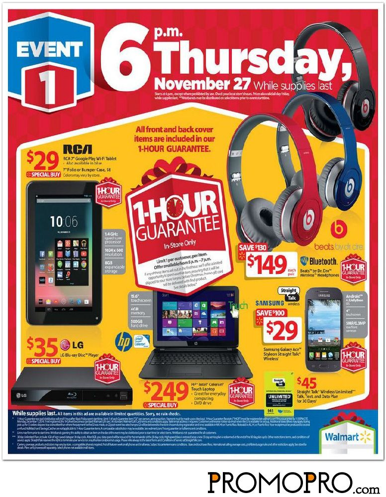 Walmart Black Friday Ad Page 2 Beats By Dr Dre Wireless On Ear Headphones 149 Rca 7 G Walmart Black Friday Ad Black Friday Ads Black Friday Deals Walmart