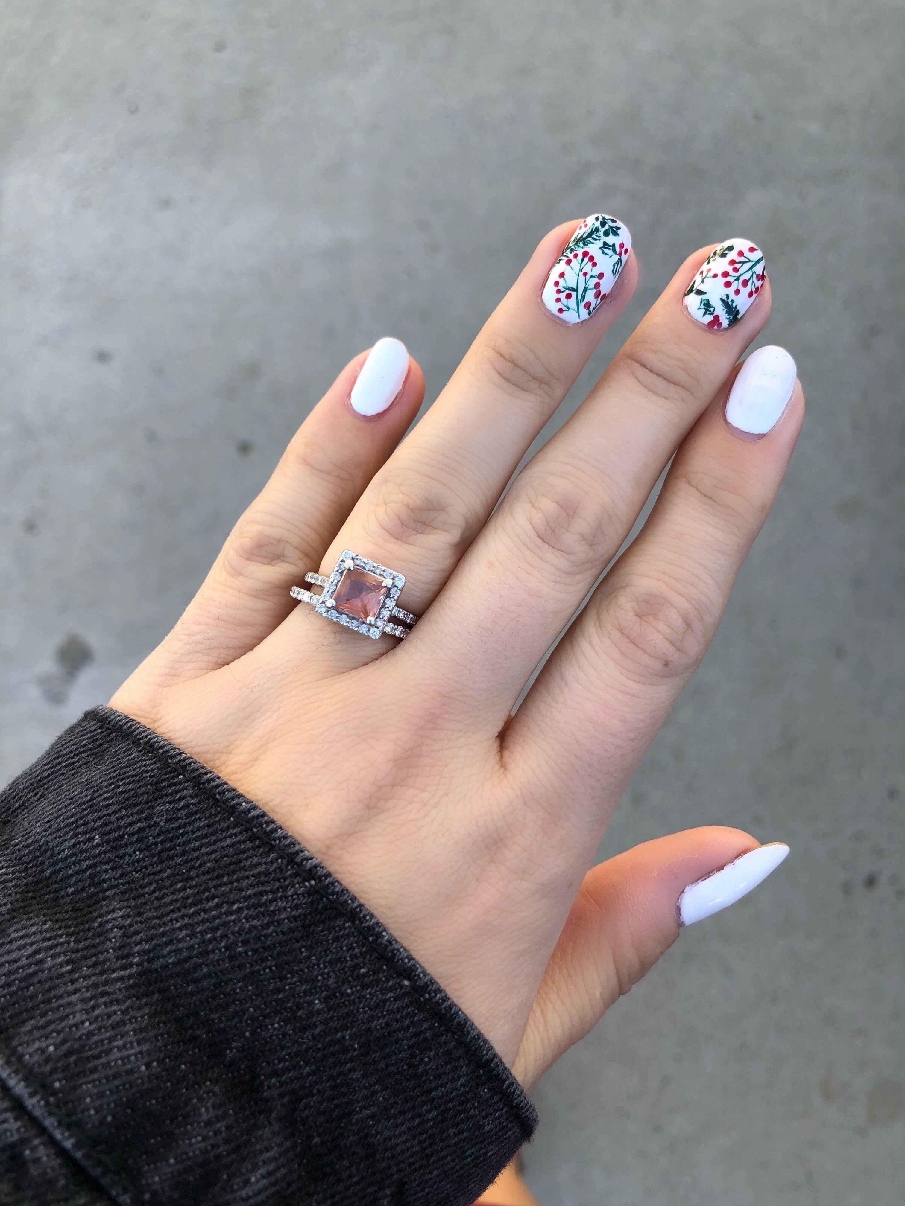 Holly berry nail art painted nail art holiday nail art and holly berry nail art prinsesfo Images