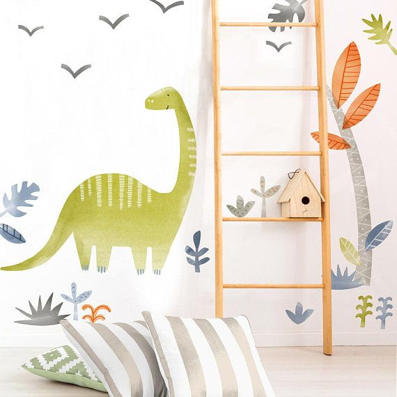 Ralph the Dinosaur - Fabric Wall Decal - Dino Collection - Mej Mej #dinosaurnursery