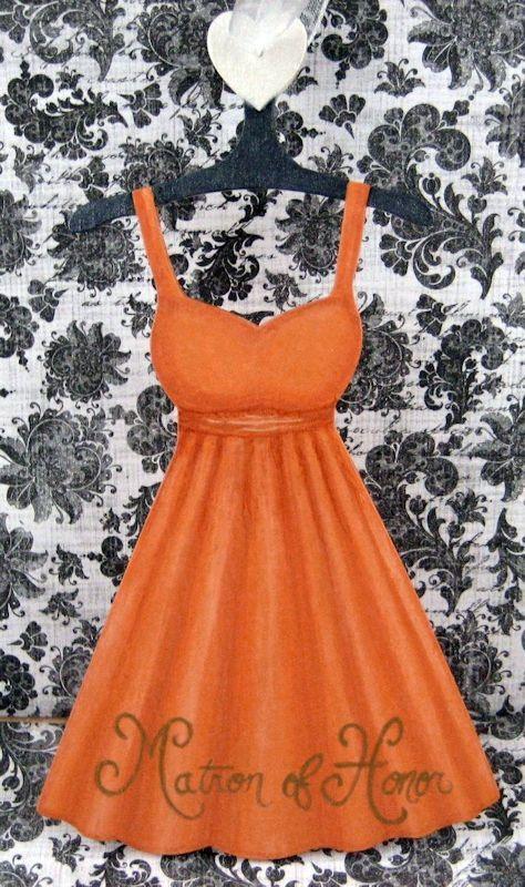 Burnt Orange Matron of Honor Dress